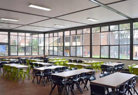Natural Classroom Design ~ French school canteen integrateddesigngroup architects
