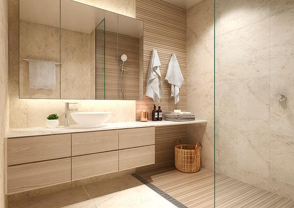 Scenic Apartment Bathroom