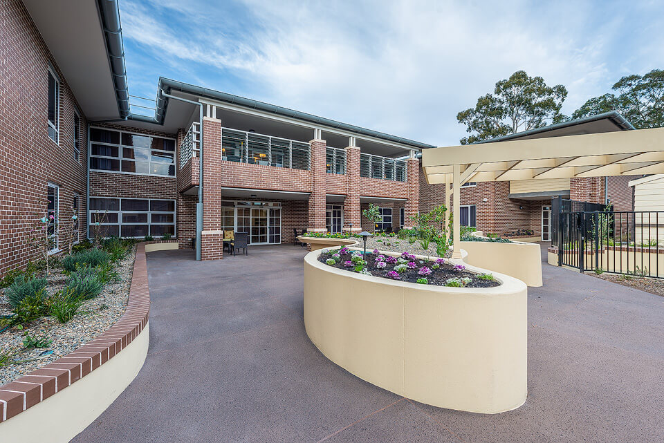 Bankstown Aged Care Yallambee Dementia Facility Courtyard