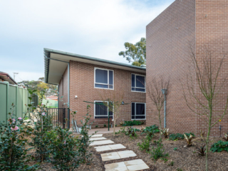 Bankstown Aged Care Yallambee Dementia Facility south courtyard path